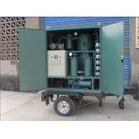 Buy Mobile Transformer Oil Purification and Filtration Equipment with Trailer and Canopy at wholesale prices
