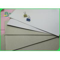 Quality 6-9% Moisture One Side Coated White Duplex Board With Grey Back 400gsm In Sheet for sale