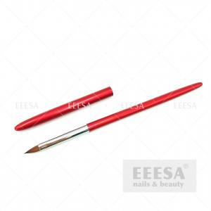 Quality Red Handle China Nail Supplies Kolinsky Sable Art Design 3D Sculpting Brushes for sale