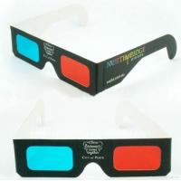 Quality Eco Friendly Cardboard Flicker Free Red And Cyan Anaglyph 3D Glasses With Pet Filter Lens for sale