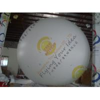 Large Helium Inflatable Advertising Balloons Fireproof 0.28mm Blank White PVC