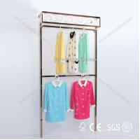 Quality garment shop names display rack for clothing store display for sale