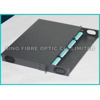 Quality OM3 10G Rack Mount Patch Panel Fiber Optic , LGX Fiber Panel 384 Fibers Assembly for sale