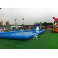 Buy Blue Large Inflatable Kids Swimming Pool With Slide For Inground Pools at wholesale prices