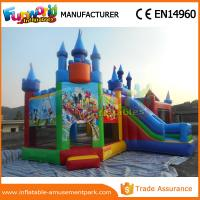 Quality Lovely Mickey Mouse Inflatable Bouncer Slide For Park CE Certifications for sale