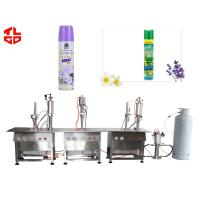 Quality Automatic Spray Can Air Freshener Filling Machine , Aerosol Cans Spray Filling Machinery for sale