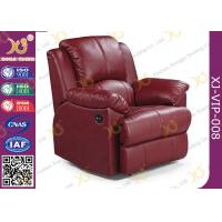 Quality Real Leather Cinema Recliner Chair ,  Home Theater Sofa With Food Tablet for sale