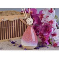Quality 330ml Pink Glazing Ceramic Aromatherapy Oil Diffuser Bottle for Home Fragrance for sale