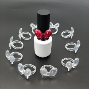 Quality Clear Transparent Butterfly Shape Nail Gel Polish Color Display Ring Tips for sale