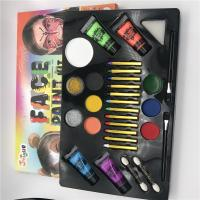 Quality 12 color face paint set with brush and gold dust party makeup Washable Paint for sale