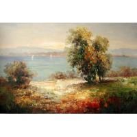 Quality crystal painting bright surface old castle for sale