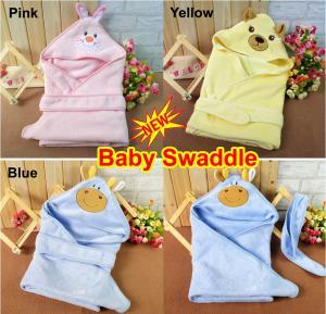 Quality Cute Newborn Baby Swaddle Me Swaddling Wrap Blanket Sleeping Bag Sleepsack Sleep Sack Growbag Hooded Cuddle Sleepsuit for sale