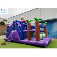 Quality 4 in 1 kids outdoor pvc tarpaulin material inflable bouncer Inflatable forest slide for sale
