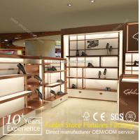 Quality Wholesale custom pop floor wood shoes display rack for sale