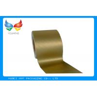 Quality Golden Vacuum Metallic Wrapping Paper 83 GSM , Aluminum Foil Surface Material for sale