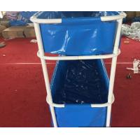 Quality Portable PVC Collapsible Fish Pond Double Tier 5000L - 20ºF ~ 158ºF Temperature Resistance for sale