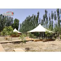 China High Peak 2 People Luxury Glamping Tents With White Roof Cover And Glass Walls For Ourdoor Hotel on sale