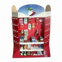 Quality Floor Stand Display, Pallet Size Cardboard Display Stand, Sturdy and Easy Assemble for sale