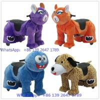 Quality China supplier hot sale animal toys with coin operated system kids walking animal rider for sale