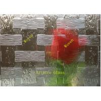 Quality 3mm to 8mm Woven Patterned Glass, Rolled Glass, Figured Glass with Certificate ISO and BV for sale