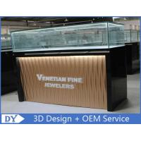 Buy Custom Modern Design Glass Jewellery Shop Display Counters With led lights at wholesale prices