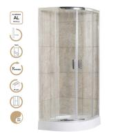 China 5mm Glass Sliding Door Shower Enclosures with Chrome Profile and Shower Tray on sale
