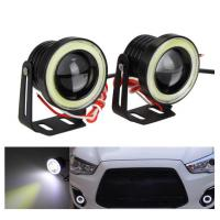 Quality Waterproof Auto Car LED Fog Lights With Lens Halo Angel Eyes Rings COB 30W 12V for sale