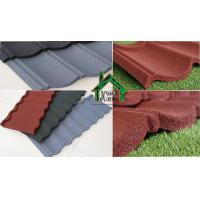 Quality Metal Roof Panels Alu-Zinc Metal Sheet color stone chips 1340*420 mm Size for sale