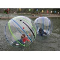 Quality 1.0mm PVC 2m Dia Inflatable Walk On Water Ball Colorful Stripe Ball For Rentals for sale