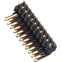 Quality 1.27 Mm Pin Header Right Angle high temperature plastic DIP H=1.5  PA9T black UL94V-0 for sale