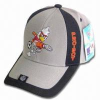 Quality Sports Cap with Back Velcro Closure, Logo Embroidery on Front and Peak for sale