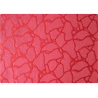 Quality International 100 Polyester Elastane Fabric , Red Jacquard Fabric Cloth for sale