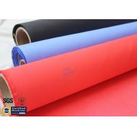 Quality Acrylic Coated Fiberglass Fire Blanket 490GSM 0.43mm Red Fire Safety Protection for sale