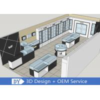 Buy cheap OEM 3D Design Jewelry Display Cases Wooden Shinning White / Black from wholesalers