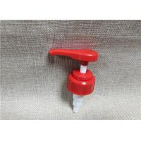 Quality Red Liquid Dispenser Pump , Screw On Type Pump Dispenser Top 28 / 410 for sale