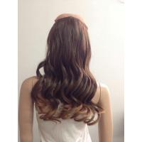 Quality Chocolate Brown Curly Synthetic Hair Extensions / Synthetic Hair Pieces For Women for sale