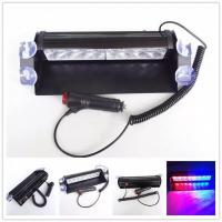 Buy cheap Red & Blue color Car Police Strobe Flash Light 8 LED 8W Emergency Warning Light 12V Universal from wholesalers