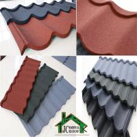 Quality Stone Chip Coated  Metal Roof Tiles /  color stone chips customized Bond tiles for sale