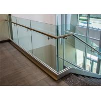 Quality U channel steel tempered glass railing for modern design for sale