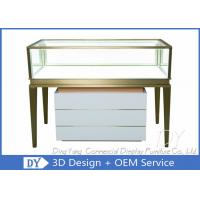 Buy cheap Luxury Diamond Shop Showcase With Wood Cabinet / Cosmetic Mall Kiosk from wholesalers
