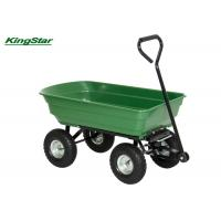 Quality Rubber Wheel Heavy Duty Garden Cart Tipper Trailer For Gardening Tools Moving for sale