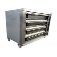 Quality Biggest Baking Oven 4 Deck 16 Trays Electric / Gas Deck Oven Stainless Steel Digital Control for sale