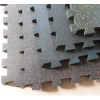 Quality 1402 Interlocking Speckled Rubber Tile for sale