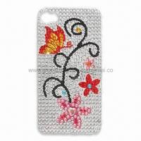 Quality Crystal/Acrylic Sticker for Mobile Phone Decoration, Measures 5.5 x 9.5cm for sale