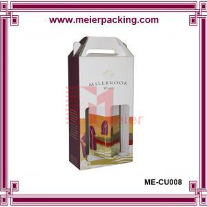 Quality corrugated cardboard wine box/Beautiful Design cardboard paper wine carrier box ME-CUR008 for sale