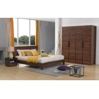Buy cheap 2016 New Nordic Design Bedroom Furniture Sets in Queen/King size Bed with Bespoke Cloth Cabinet and Side table from wholesalers