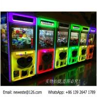 Quality luminous Heart Pattern Glitter Colorful illuminated Coin Operated Arcade Games Doll Cranes Claw Machine for sale