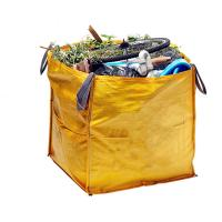 China Yellow Garden Skip Bag Garbage Dumpster Virgin PP Material For Construction Waste on sale