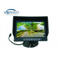 Quality 7 Inch Digital Stand Alone 4channel Car Quad Monitor DVR With SD card Recording for Van / Truck for sale
