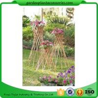 """Quality Outdoor Bamboo Garden Willow Garden Trellis 4"""" In Diameter On A 57-1/4"""" H Stand for sale"""